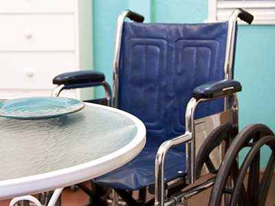 Wheelchair in a nursing home